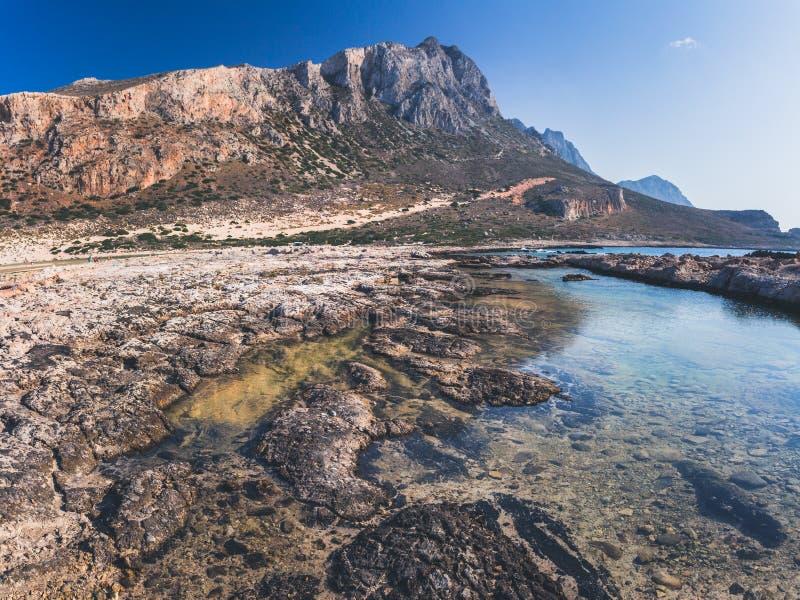 Parte rocosa de la laguna de Balos fotos de archivo libres de regalías