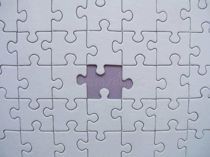 Parte sig.na del puzzle immagine stock
