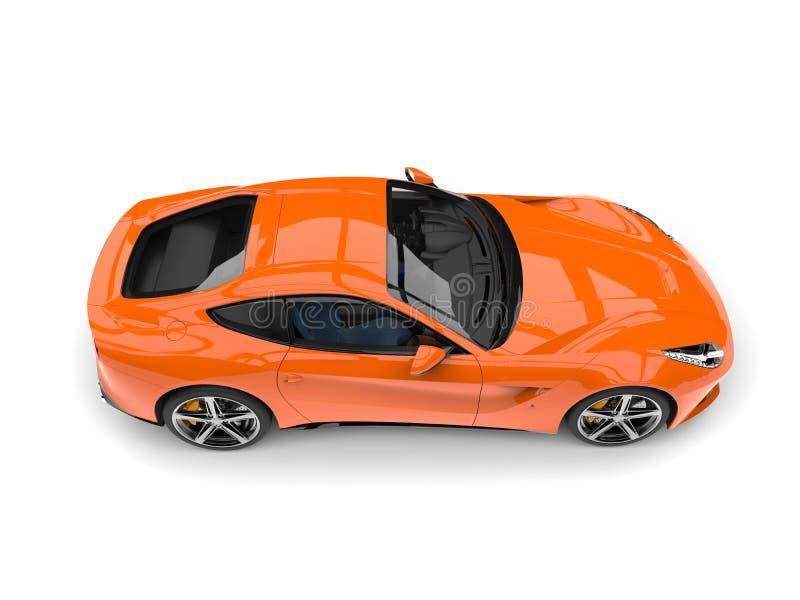Parte superior automobilístico do conceito rápido alaranjado quente moderno abaixo da vista ilustração royalty free