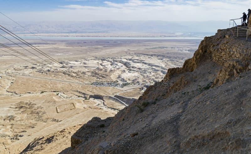 Parte superior da fuga de caminhada do trajeto da serpente de Masada imagem de stock royalty free