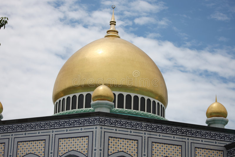 Parte superior da mesquita fotos de stock