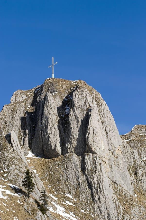 Parte superior da montanha de Branderschrofen foto de stock royalty free