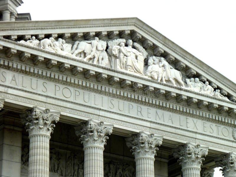 Parte superior de Jefferson City Capitol Building Frieze imagens de stock royalty free