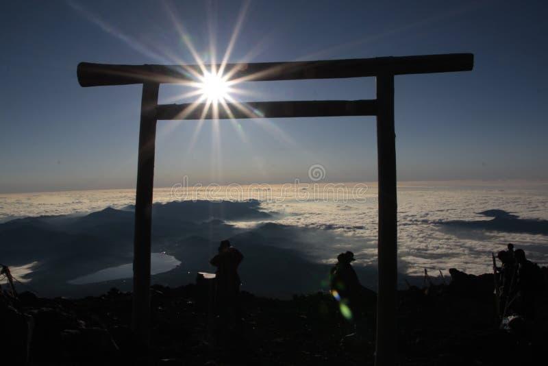 Parte superior de Mt Fuji Japão fotos de stock royalty free