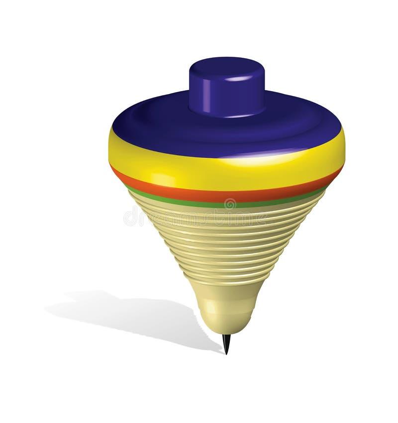 Parte superior do brinquedo ilustração stock