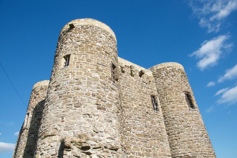 Parte superior do castelo imagem de stock royalty free