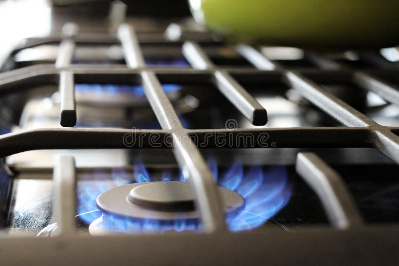 Parte superior do fogão de gás natural fotografia de stock royalty free