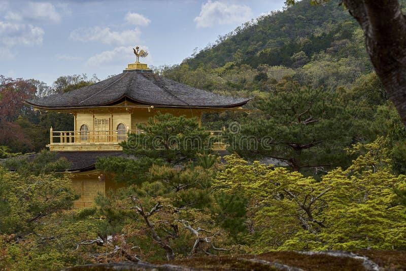A parte superior do pavilhão dourado, Kyoto, Japão imagem de stock royalty free