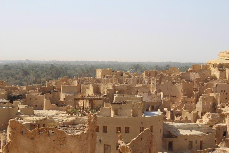 Parte superior do telhado de Siwa foto de stock