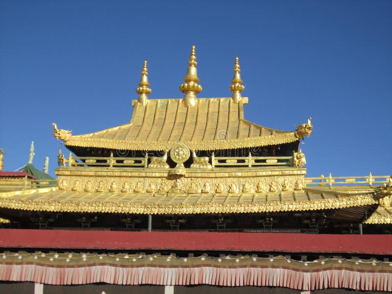 Parte superior do templo de Jokhang imagem de stock