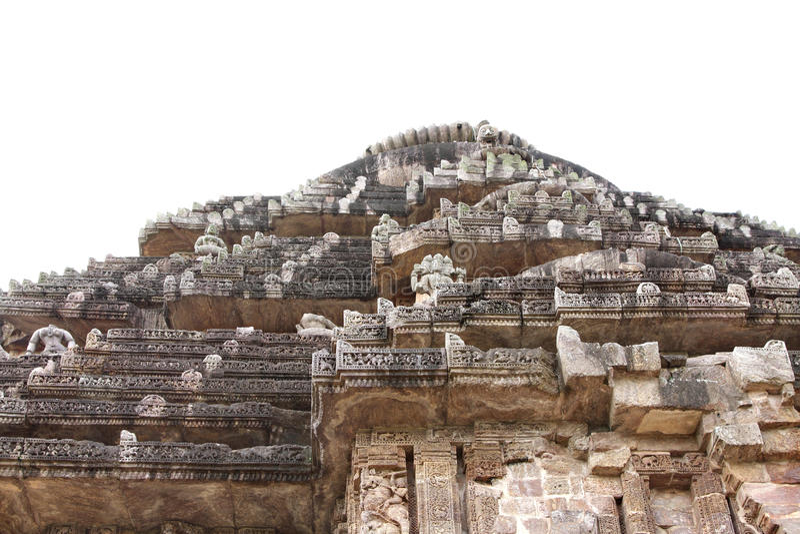Parte superior do templo Konark de Sun fotografia de stock royalty free