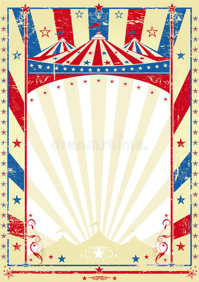 Parte superior grande do poster tricolor velho ilustração stock