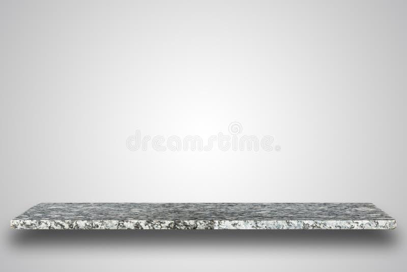 Parte superior vazia da tabela ou do contador de pedra natural no fundo vazio foto de stock royalty free