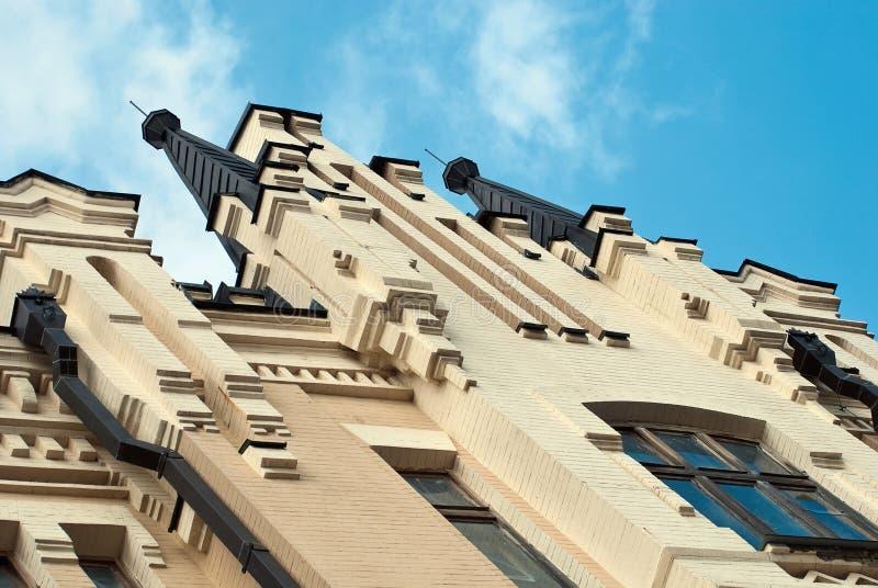 Parte superiore del castello del re Richard a Kiev, Ucraina fotografie stock libere da diritti
