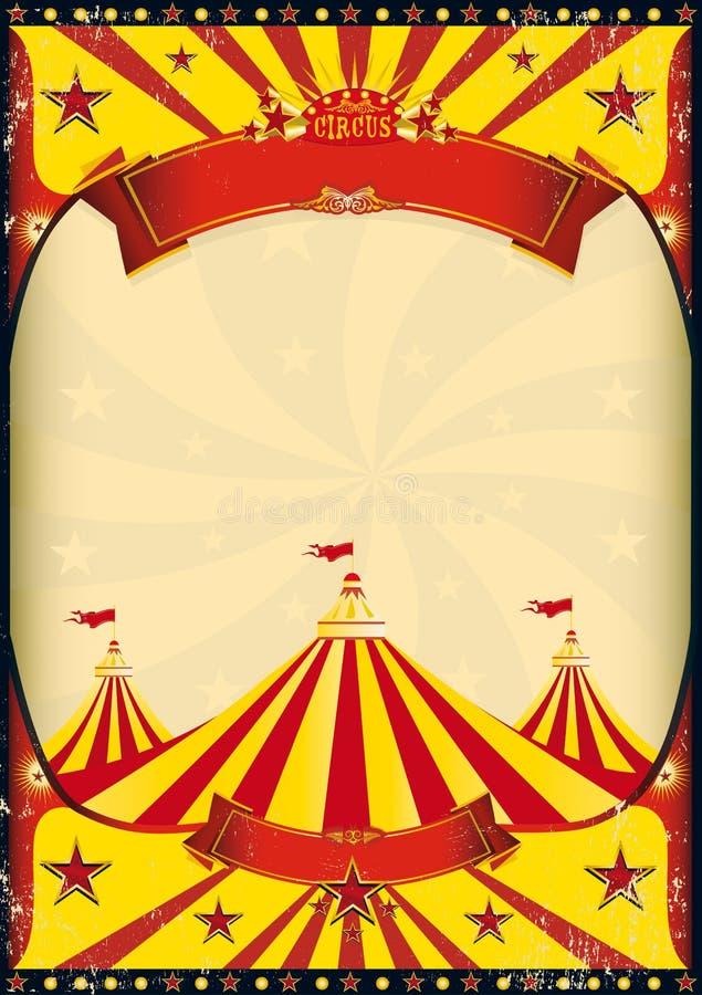 Parte superiore del manifesto del circo grande illustrazione vettoriale