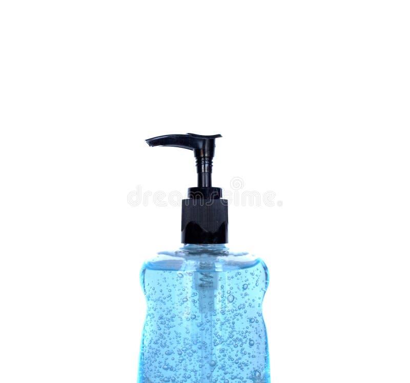 parte superiore del prodotto disinfettante della mano della bottiglia fotografia stock libera da diritti
