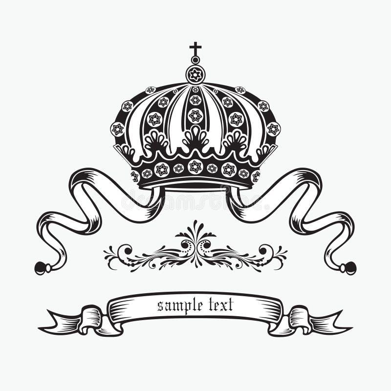 Parte superiore del re. illustrazione di stock