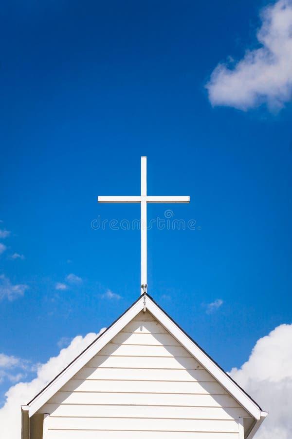Parte superiore del tetto della chiesa immagini stock libere da diritti