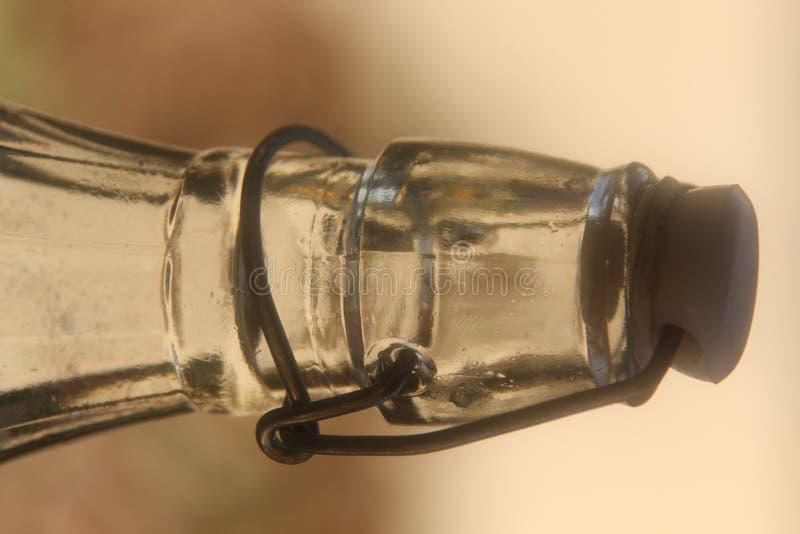 Parte superiore della bottiglia immagine stock libera da diritti