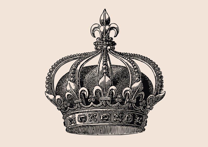 Parte superiore della casa Bourbon royalty illustrazione gratis