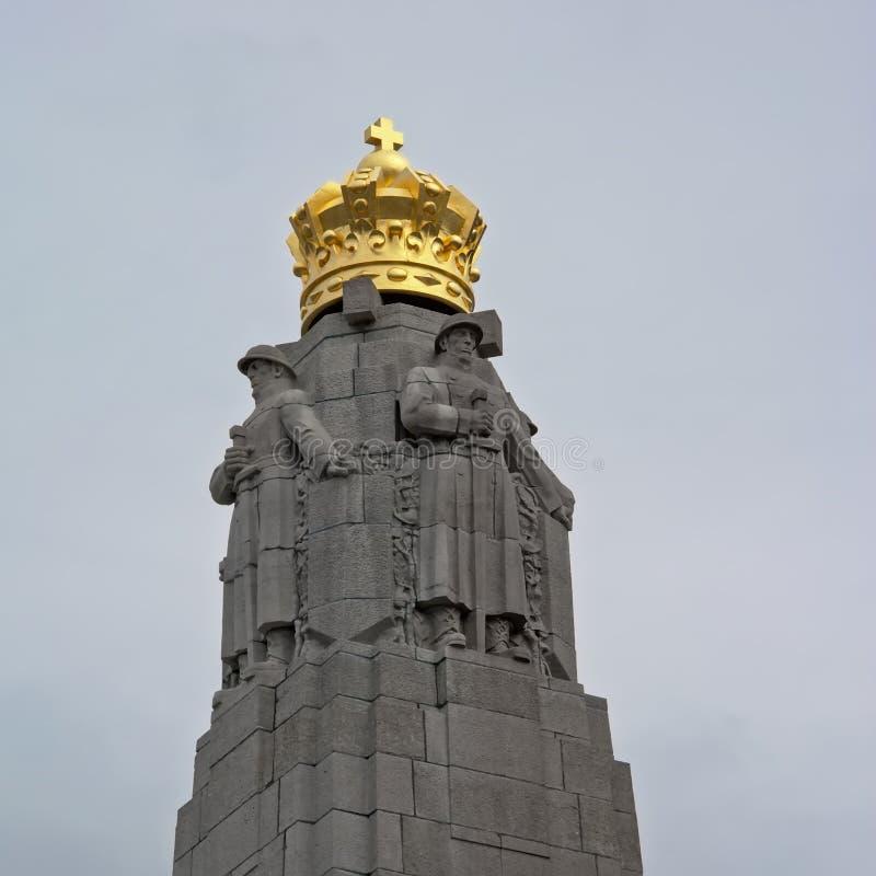 Parte superiore di monumento commemorativo della fanteria, Bruxelles, Belgio fotografia stock
