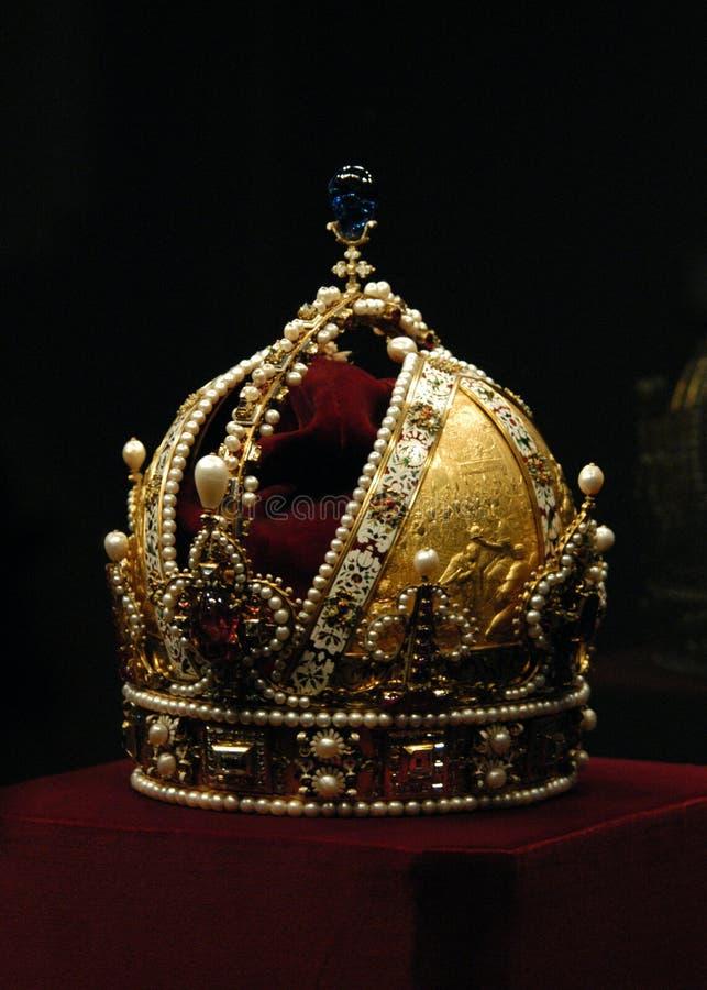Parte superiore dorata dell'imperatore Rudolf II fotografie stock libere da diritti