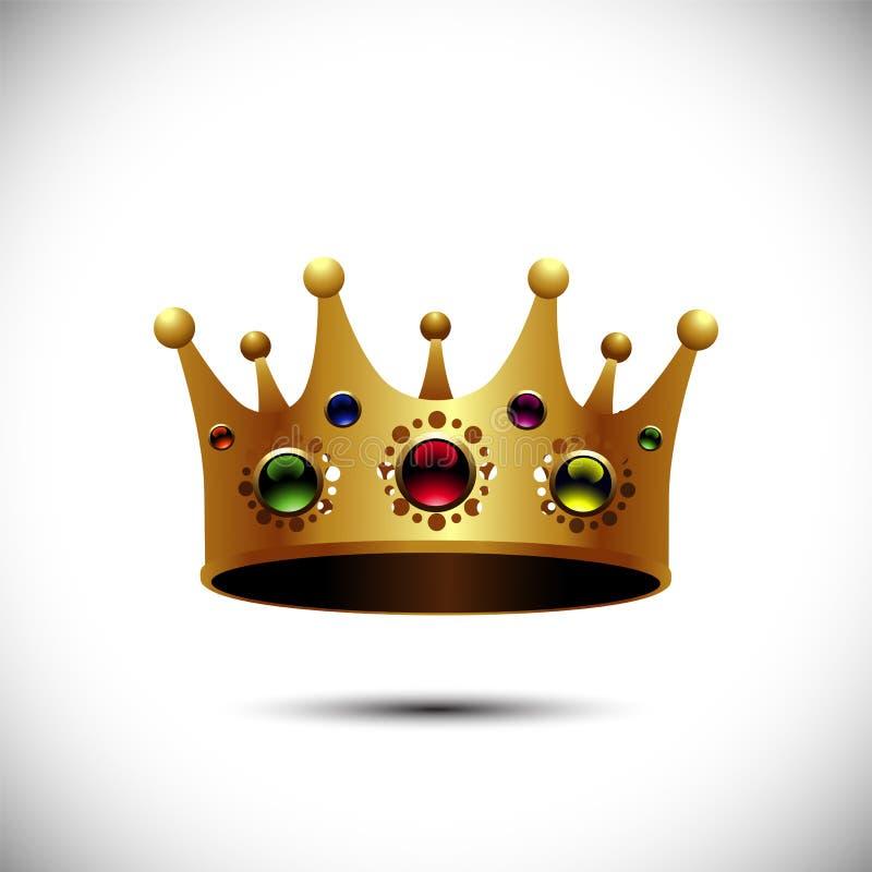 Parte superiore reale dell'oro Illustrazione di vettore royalty illustrazione gratis