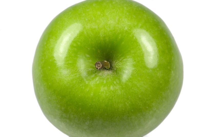 Parte superiore verde di macro del Apple fotografia stock libera da diritti