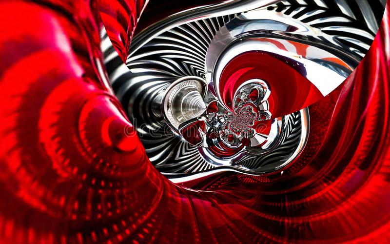 A parte traseira clássica do carro desportivo do automóvel ilumina o fundo abstrato espiral do teste padrão da textura do efeito  ilustração do vetor