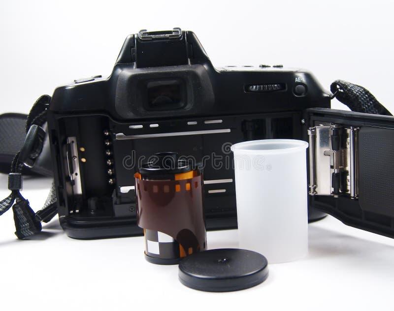 parte traseira da câmera de 35mm imagens de stock royalty free