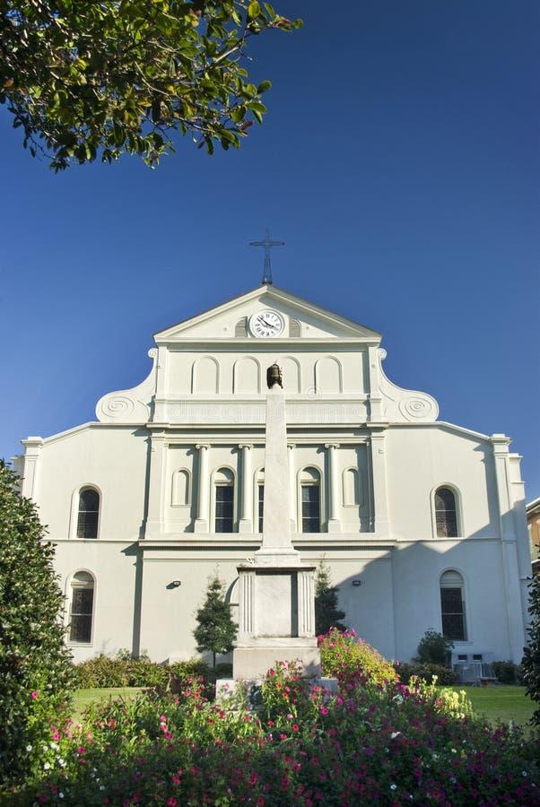 Parte traseira da catedral de St Louis, Nova Orleães fotografia de stock