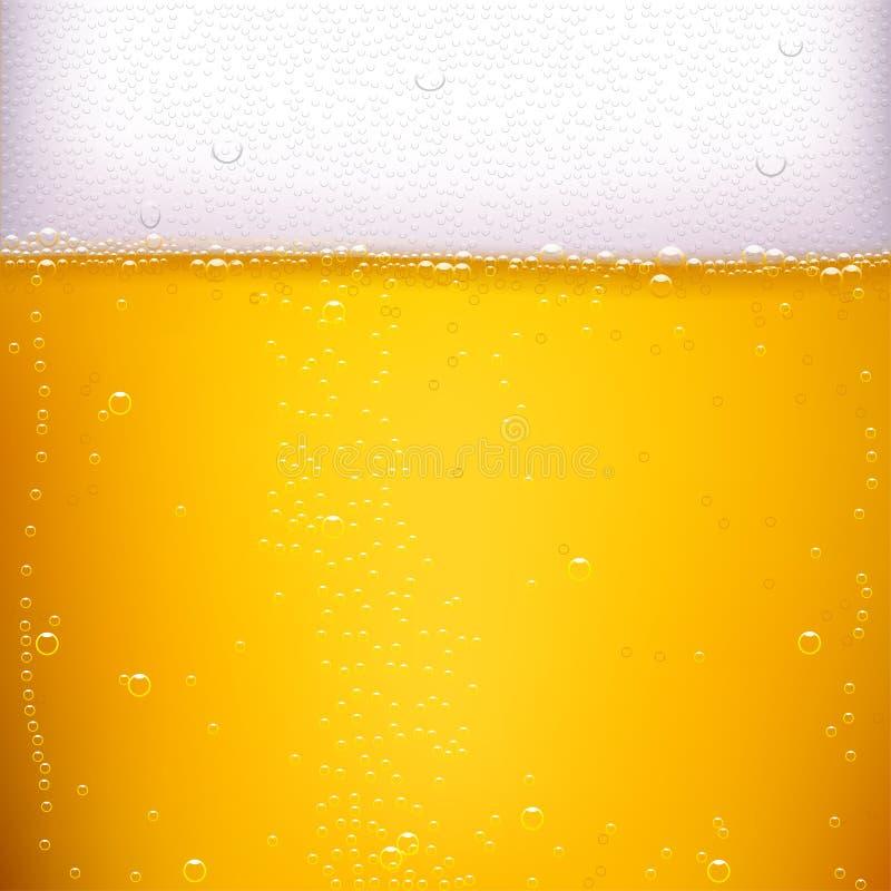 Parte traseira da cerveja ilustração royalty free