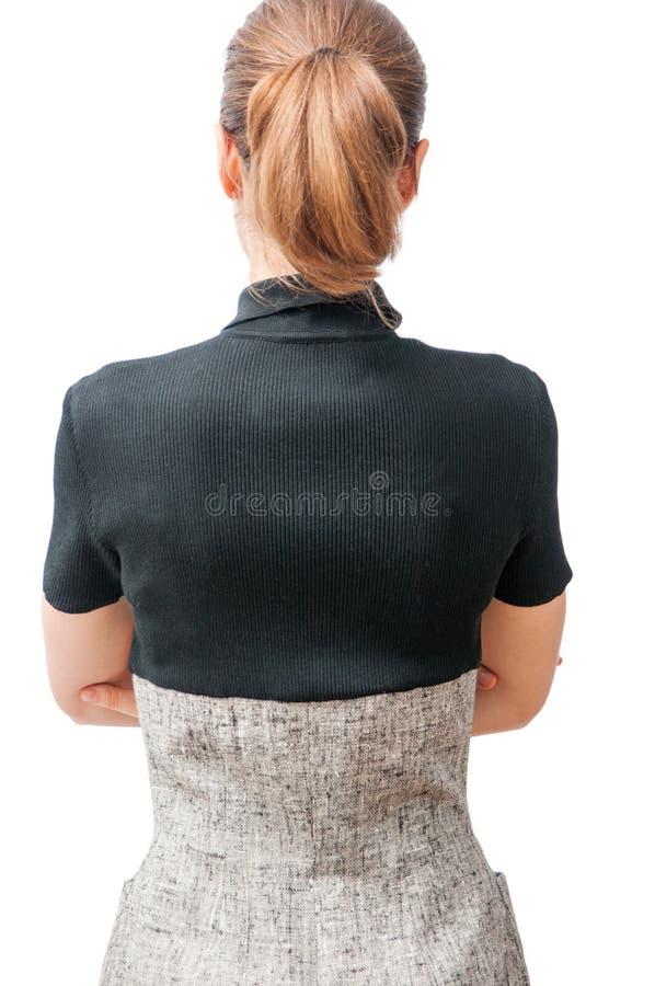 Parte traseira da mulher de negócio fotografia de stock