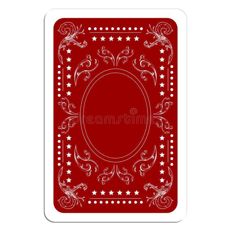 Parte traseira de cartão do jogo ilustração royalty free