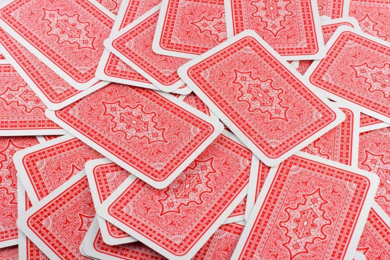 Parte traseira de cartão do jogo fotos de stock royalty free
