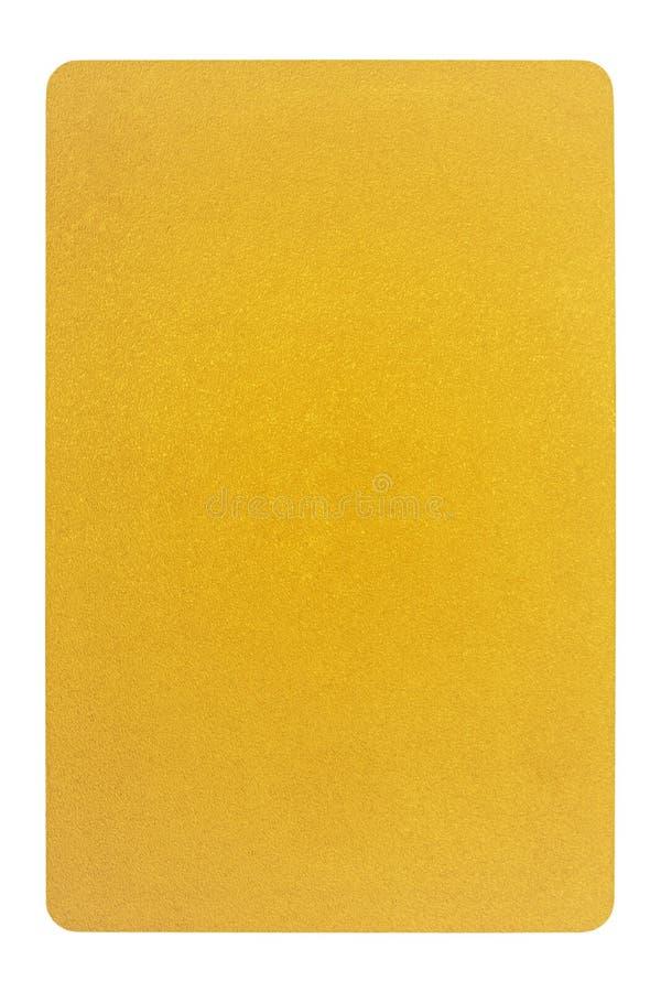 Parte traseira de cartões dourada do jogo imagens de stock