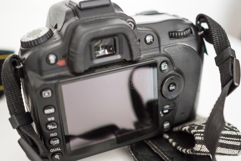 Parte traseira de uma câmera de DSLR fotos de stock royalty free