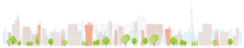 Parte traseira do illustration_White da imagem da parte traseira de Townscape largamente ilustração do vetor