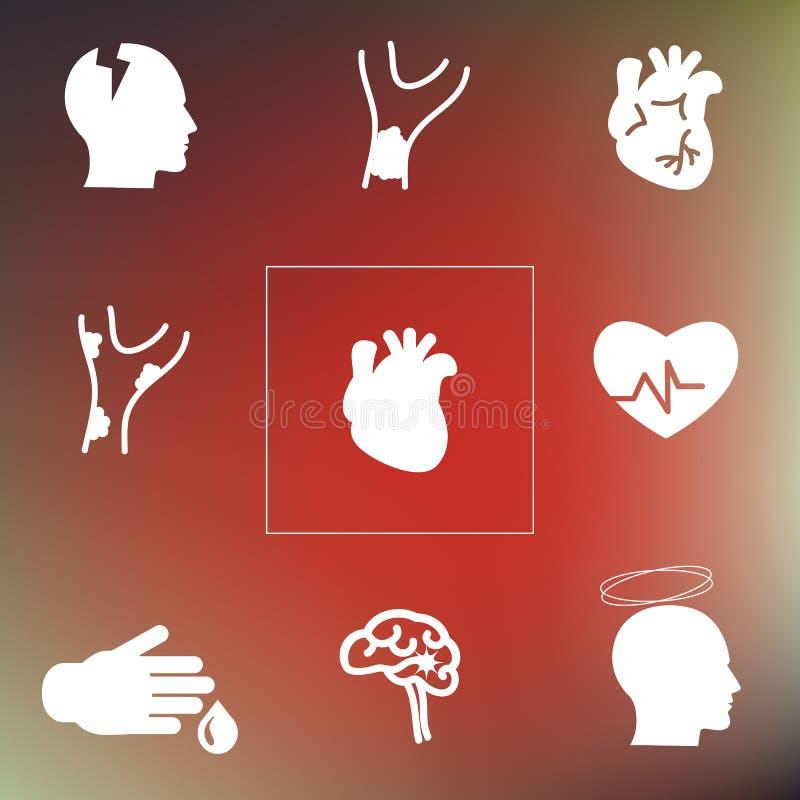 Parte traseira do sistema cardiovascular ilustração royalty free