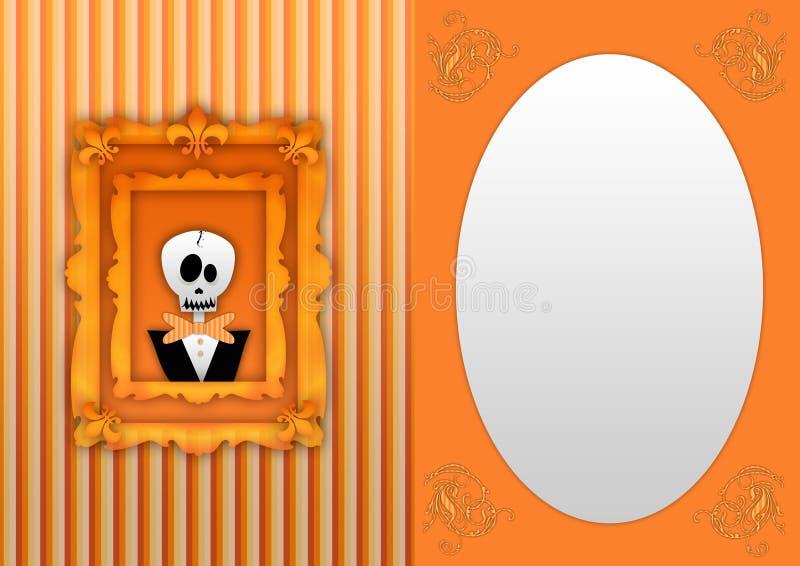 Parte traseira feliz de Halloween ilustração do vetor