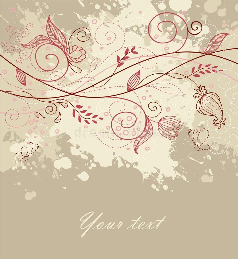 Parte traseira floral com gota ilustração royalty free
