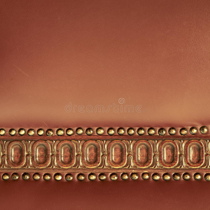 Parte traseira Hand-made do couro da cadeira imagens de stock