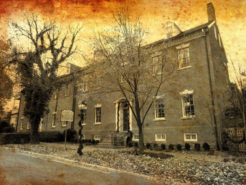 Parte traseira a tempo a Robert E Casa da infância do ` s do Lee imagem de stock