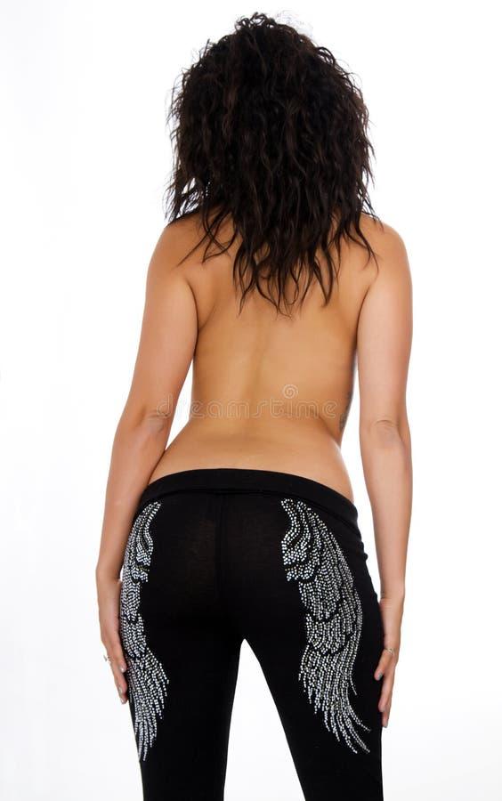 Parte traseira triguenha da mulher do Latino 'sexy' novo imagem de stock royalty free