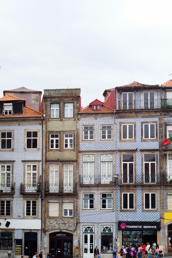 Parte velha de Porto, Portugal fotos de stock