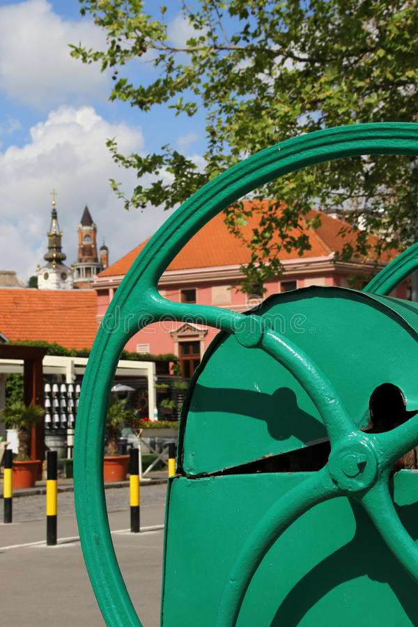 Parte velha de Zemun, Sérvia imagem de stock royalty free