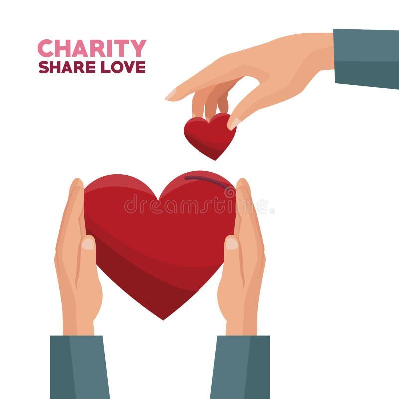 Parte y amor de la caridad libre illustration