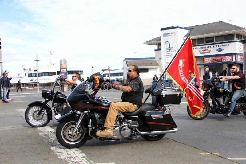 Partecipanti alla novantasettesima parata annuale di giorno del ` s del veterano fotografia stock libera da diritti