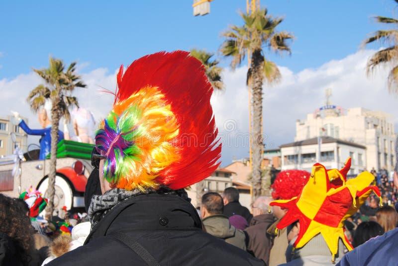 Partecipanti del carnevale di Viareggio immagini stock libere da diritti
