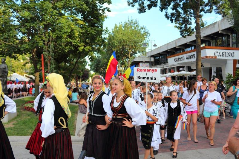 Partecipanti Varna Bulgaria di parata della via immagini stock libere da diritti